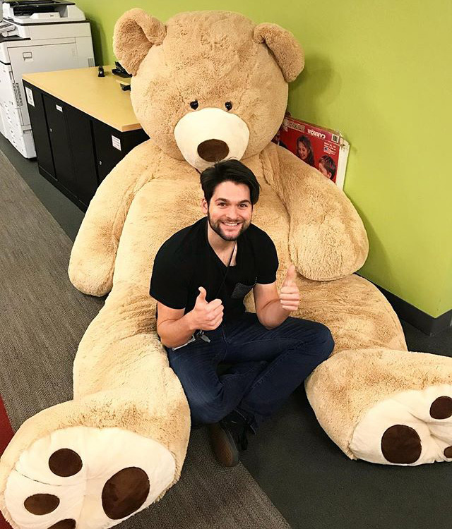 Massive Stuffed Teddy Bears At Google Office