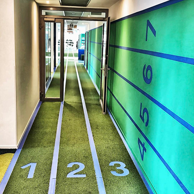Google Indoor Office Hallway Race Track