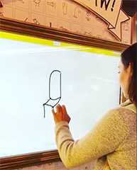 Google Dublin Quick Draw Game Framed On Wall