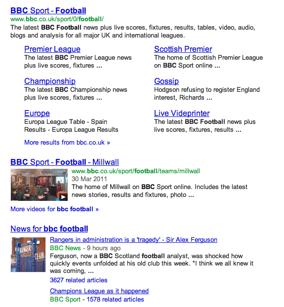 Why Is There One Google Search Results For Bbc Football
