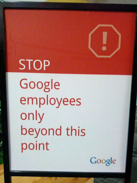 Google's Stop Sign