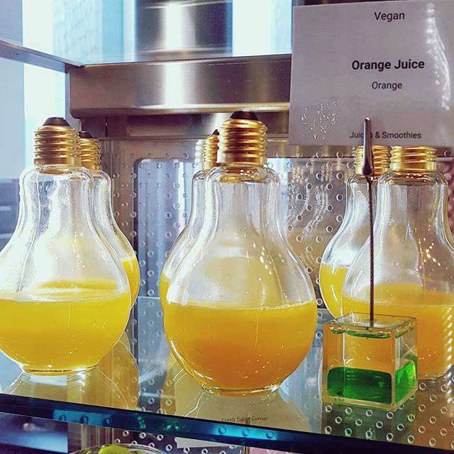 Google Serves Orange Juice In Light Bulbs