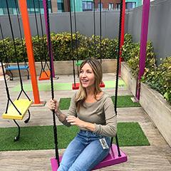 Many Outdoor Swings At Google Dublin