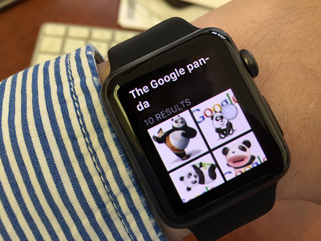 Google Panda On Apple Watch