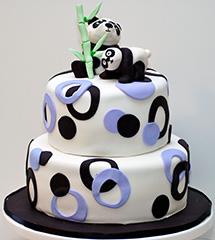 Google Panda Birthday Cake