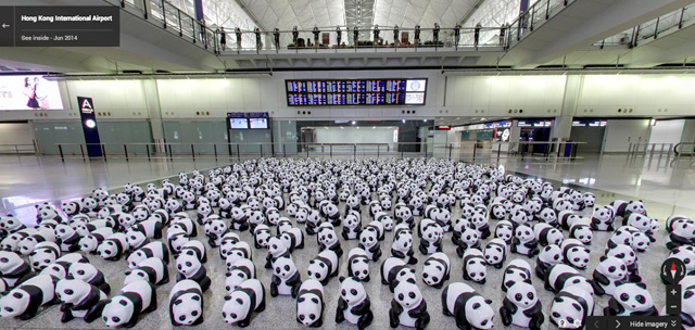 Google Maps With Hundreds Of Pandas