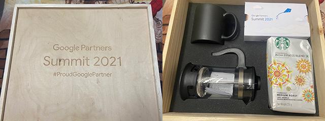 Google Partner Program Wooden Coffee Box 2021
