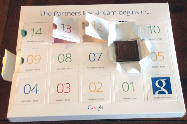 Box Of Google Chocolates