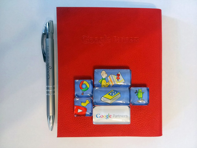 Google Partners Gift: Pen, Notebook & Magnets
