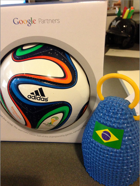 Google World Cup Soccer Ball & Caxirola