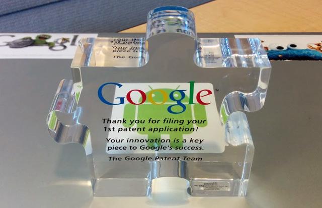 Google Patent Acrylic Puzzle Piece