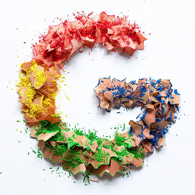 Google Pencil Shavings Logo