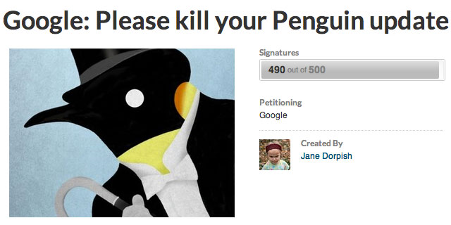 The Google Penguin Petition