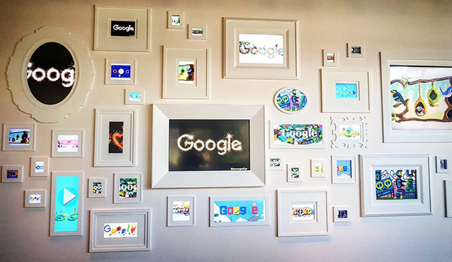 Google Photo Frame Wall