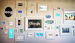 Lots Of Photo Frame On This Wall At Google