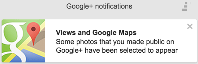 Google+ Photos Notifications