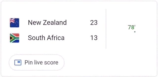 Google Pin Live Scores