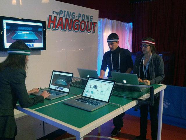 Ping Pong Google+ Hangout
