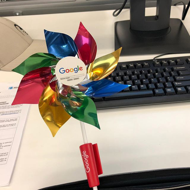 New Googlers Pinwheels