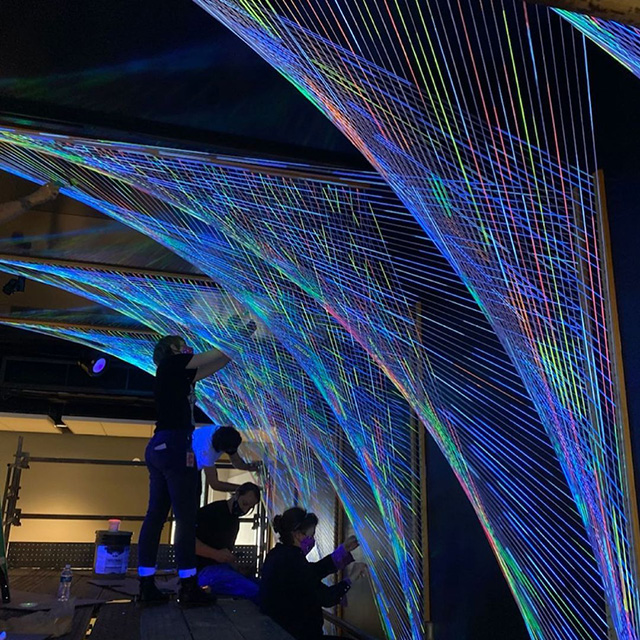 Google Pittsburgh Parabolas String Art