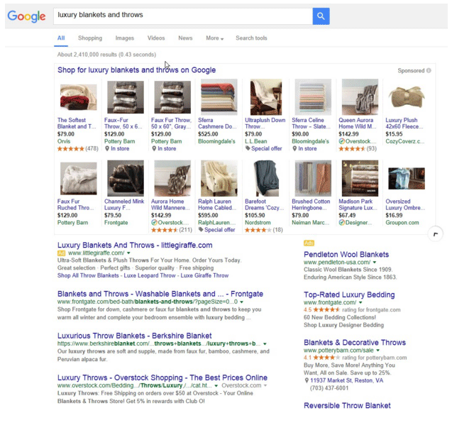 Google product listing ads expanded