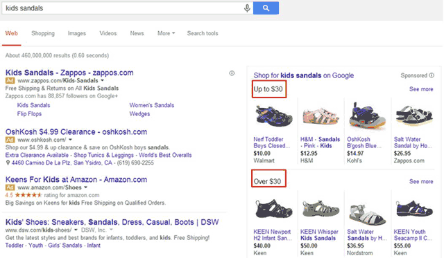 Google Shopping Ads With Price Grouping