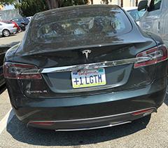 Googlers Tesla License Plate: +1 LGTM