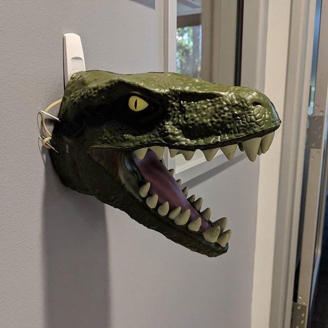 Tyrannosaurus Head Mounted On Wall At GooglePlex