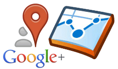 Google+ Local Google Analytics Logo