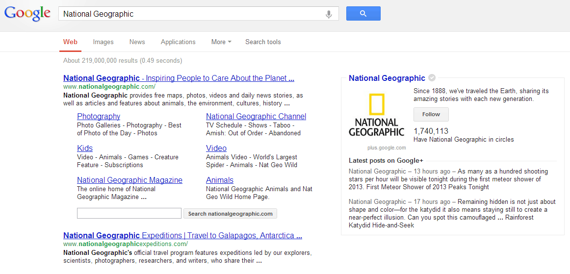 Google Drops Google+ From Knowledge Graph Box