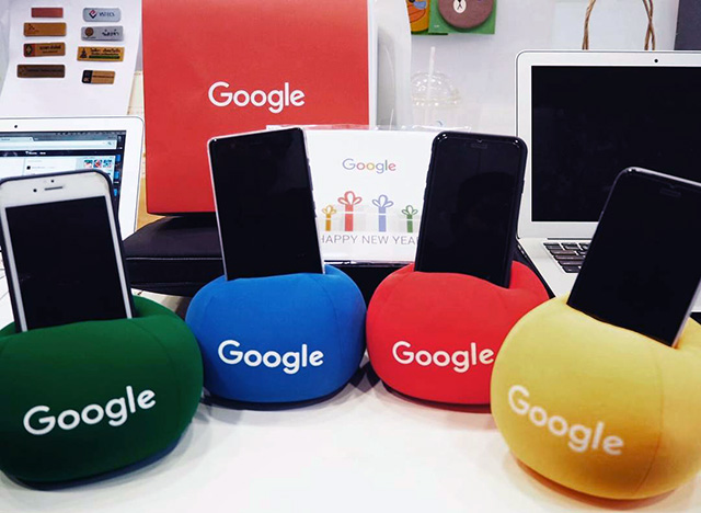 Plush Google Smartphone Holders