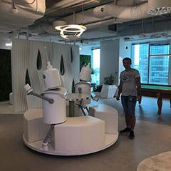 Google Robots At Google Poland Office
