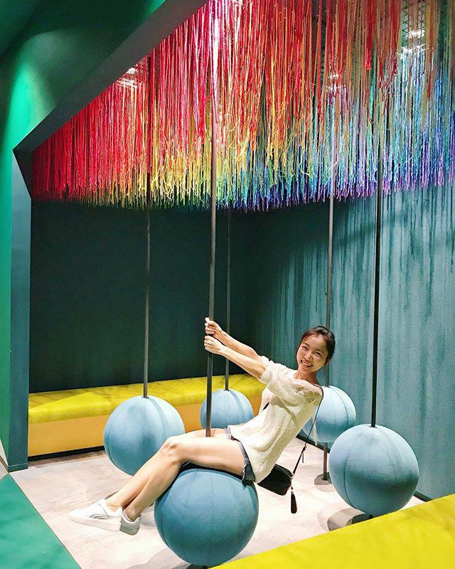 Google Pole Ball Sitting Area