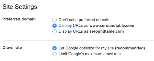 Google Preferred Domain