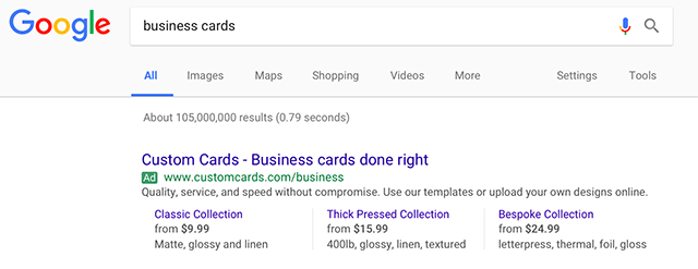 Google AdWords Price Extensions Now On Desktop
