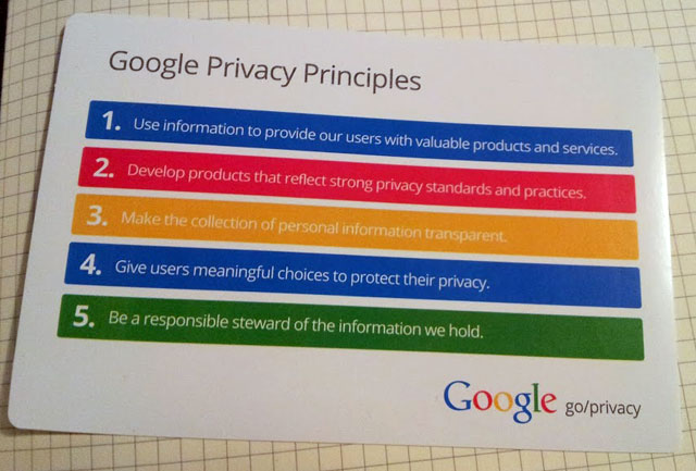 Google's Privacy Principles Guide