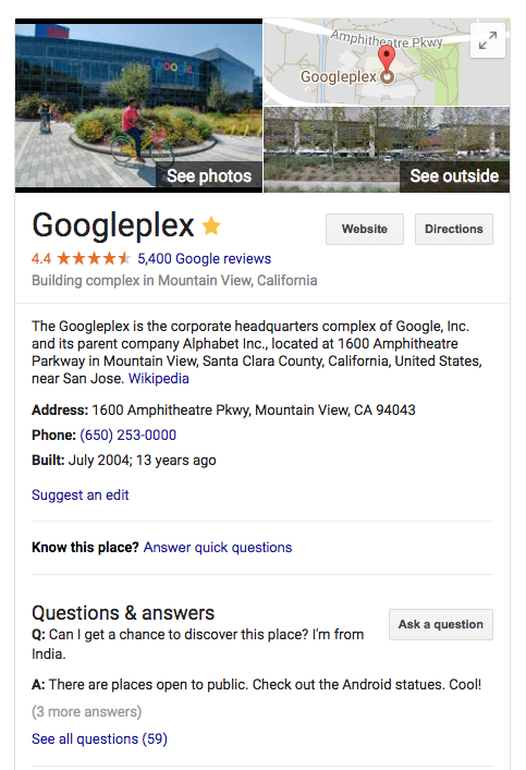 Google Local Questions & Answers Now Officially On Desktop