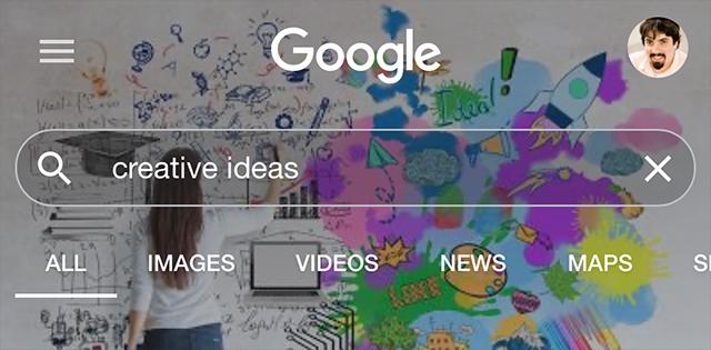 A Pesquisa do Google testa cabeçalhos personalizados com base em consulta 1