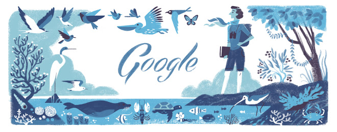 Rachel Louise Carson's 107th Google Birthday Doodle