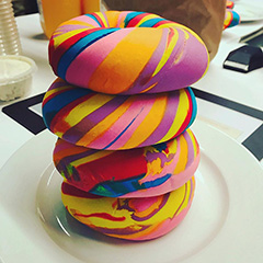 Google Rainbow Bagels For Pride Month