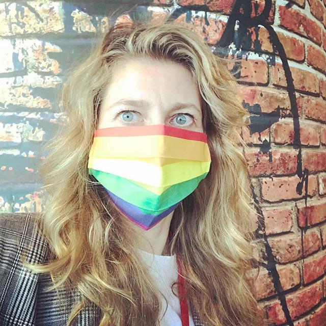 Google Rainbow Face Masks