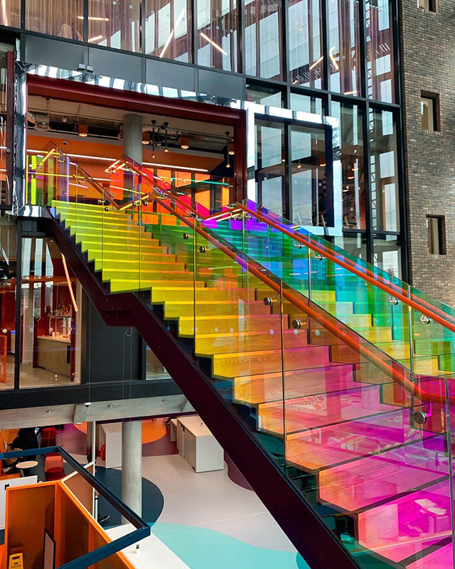 Google Rainbow Staircase