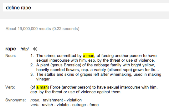 Google Define Rape
