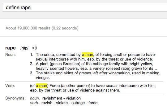 Google Define Rape