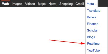 Google Realtime in Menu