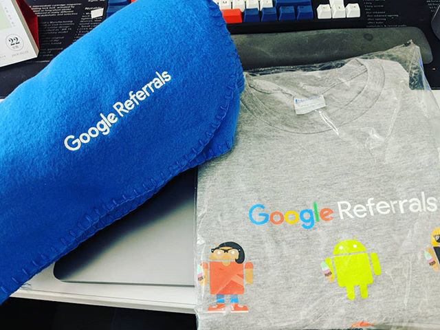 Google Referrals Swag