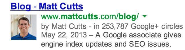 matt cutts rel author