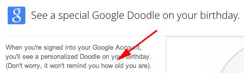 Google Birthday Doodle Age