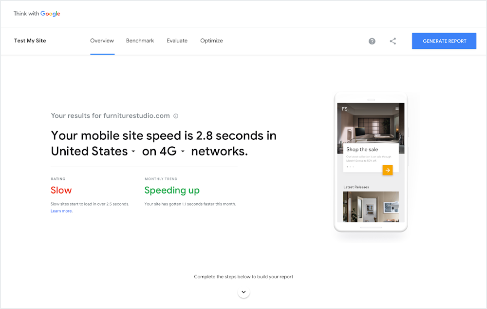 Google Revamps Test My Site Tool