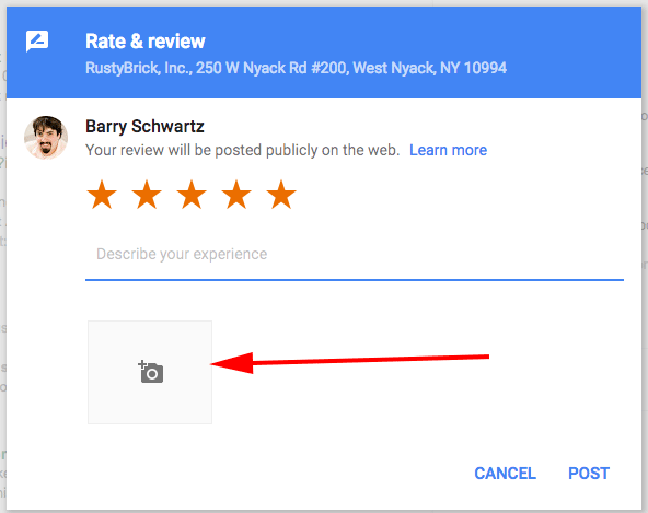google local reviews photo/video